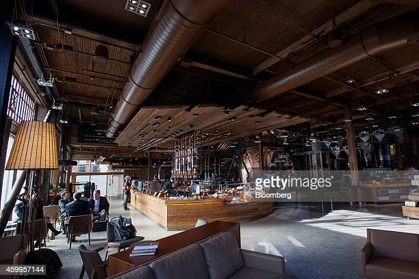 The interior of the Starbucks Corp Reserve Roastery and Tasting Room is seen in Seattle Washington US on Wednesday Dec 3 2014 The store is a...