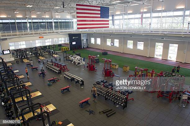The interior of the Ted Stevens Sports Services Center part of the US Olympic Training Center is seen in Colorado Springs Colorado on Wednesday May...