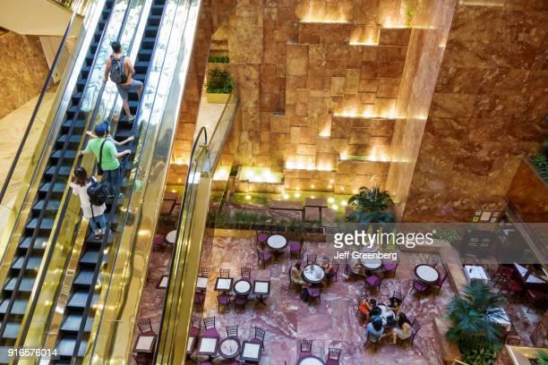 The interior of the Trump Tower atrium.