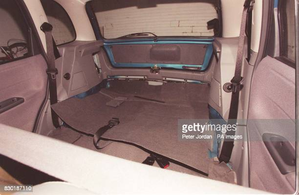 The interior of the Vauxhall Corsa car used by Alan Hopkinson who pleaded guilty at Lewes Crown Court to snatching two 10yearold girls pushing them...