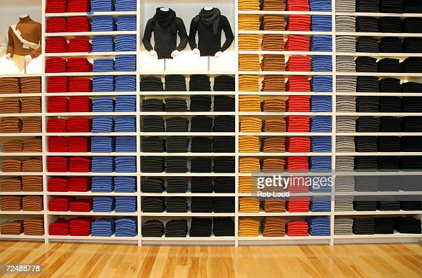 The interior of Uniqlo is seen at the grand opening of the Uniqlo global flagship store on November 9 2006 in New York City