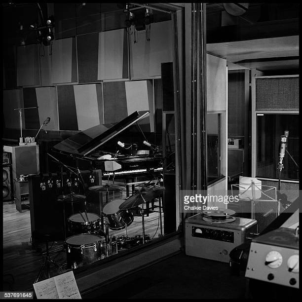 The interior of Wessex Sound Studios, which is being used by English ska revival band The Specials to record their third LP, 'In The Studio', London,...