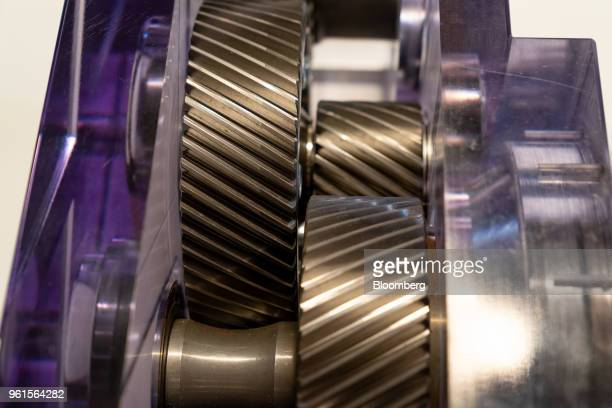 The interior of Xing Mobility Inc's torque vectoring gear box is seen in Hong Kong China on Wednesday May 23 2018 Xing Mobility Chief Executive...