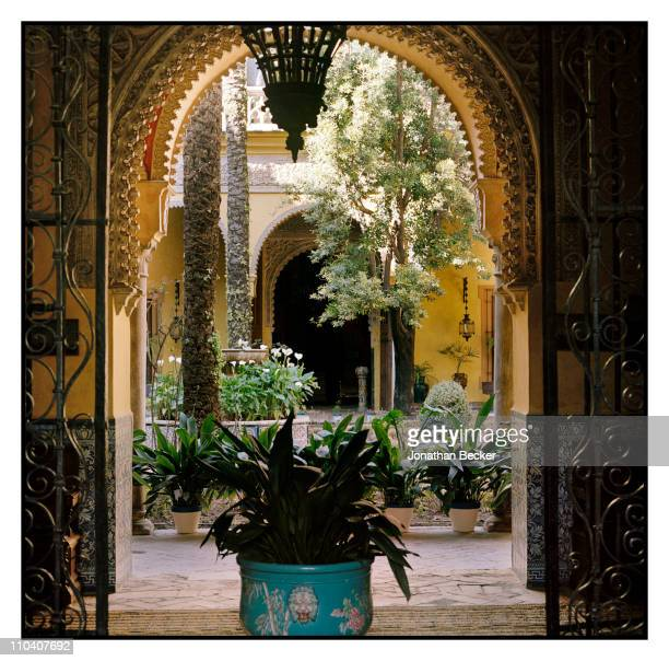 The interior patio of the Palacio de Duenas is photographed for Vogue Espana on March 15-17, 2010 in Seville, Spain. Published image.