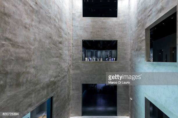 The interior space of the Armani Silos is seen on April 30 2015 in Milan Italy In 1975 Giorgio Armani launch his first collection And on April 29th...