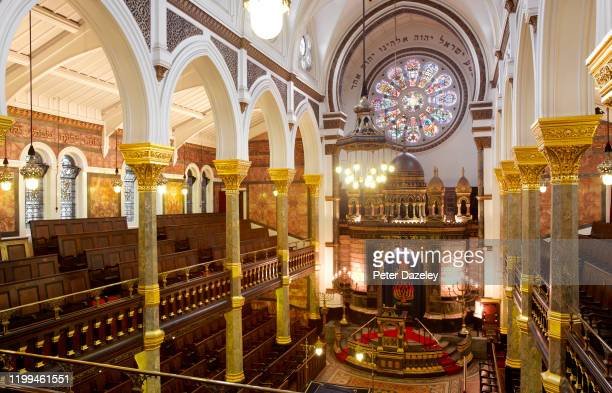 The interior view from the gallery of the New West End Synagogue on August 24,2011 London. It is one of the oldest synagogues in the United Kingdom...