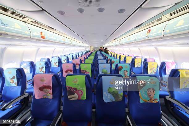 The interior view of a Disney Pixar Toy Storythemed aircraft launched by China Eastern Airlines is seen before its maiden flight from Shanghai...