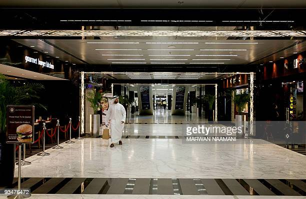 The interior view of the Dubai International Financial Centre 'The Gate' pictured on July 10 2008 is the first building in the Dubai Financial...