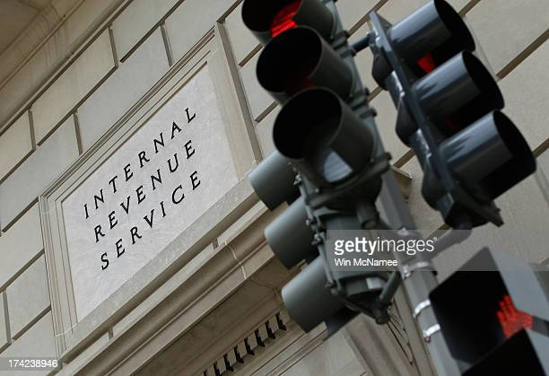 The Internal Revenue Service Building is shown July 22, 2013 in Washington, DC. Due to current shortfalls in the federal budget, all Internal Revenue...