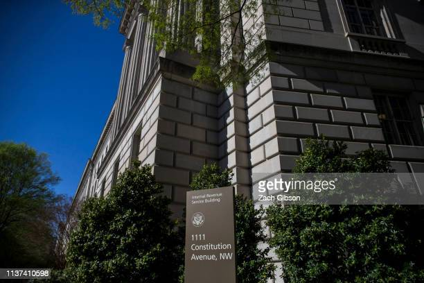 The Internal Revenue Service building stands on April 15, 2019 in Washington, DC. April 15 is the deadline in the United States for residents to file...