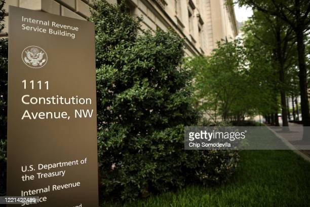The Internal Revenue Service headquarters building appeared to be mostly empty April 27, 2020 in the Federal Triangle section of Washington, DC. The...