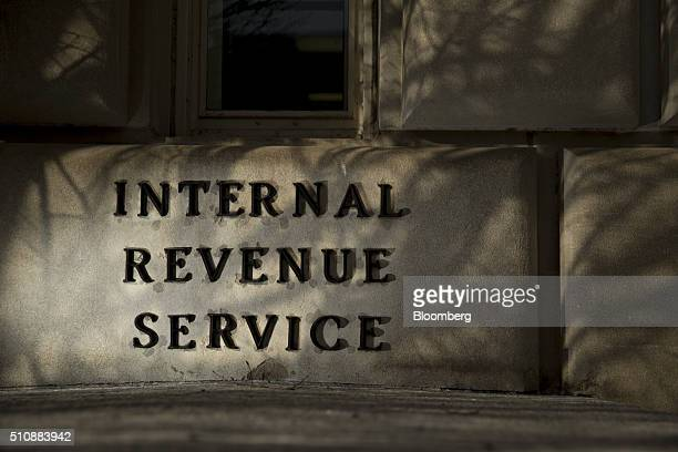The Internal Revenue Service headquarters building stands in Washington DC US on Wednesday Feb 17 2016 Taxpayers have until Monday April 18 to file...