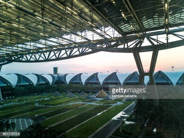 The international airport in the evening, Thailand.
