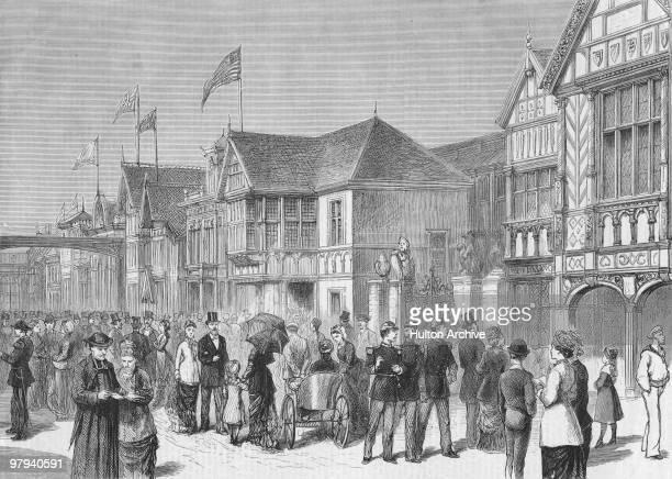The International Avenue at the Paris World's Fair 1878 Original Publication The Graphic pub 18th May 1878