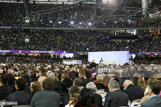 The International Convention of Jehovahs Witnesses is held at Etihad Stadium in Melbourne October 17 2014 The fourday event has attracted more than...