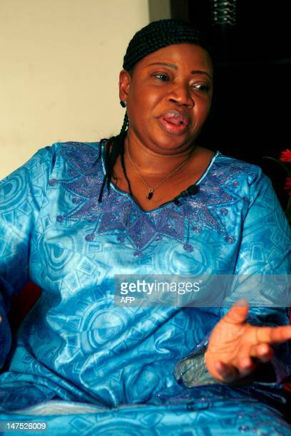 The International Criminal Court's new chief prosecutor Gambian lawyer Fatou Bensouda gives an interview with AFP on July 1 2012 in Dakar Islamist...