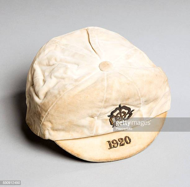 The international debut cap belonging to England's Billy Walker awarded for his debut in the match against Ireland at Roker Park in Sunderland on...
