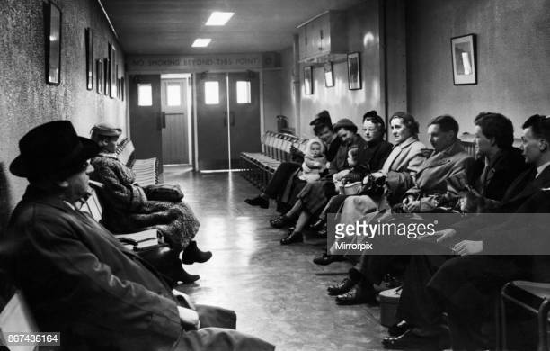 The international departure lounge at Manchester Ringway Airport 12th February 1954.
