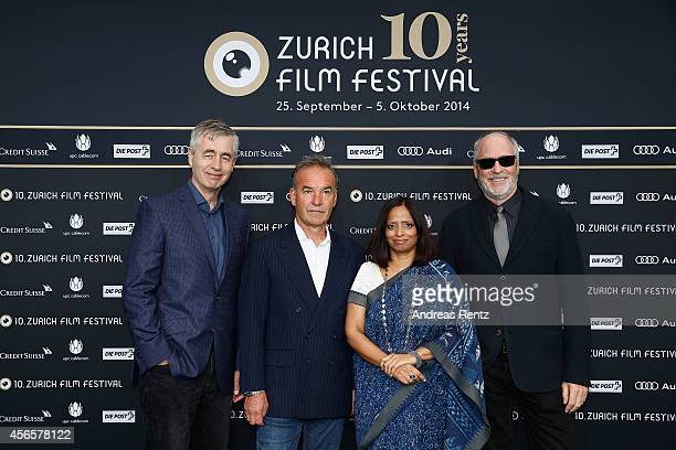 The International Documentary Film Jury Steve James Nick Broomfield Nishtha Jain and Greg Gorman attend the Jury Photocall during Day 9 of Zurich...