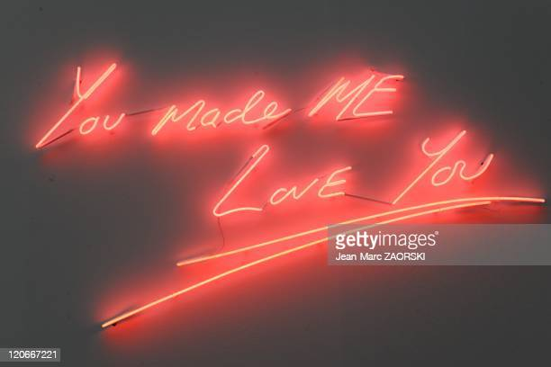 The International Exhibition of Contemporary Art in the Grand Palais in Paris France on October 23 2010 a Tracey Emin's work of art called You made...