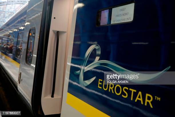 The international highspeed Eurostar train arrives from Paris at St Pancras International railway station in London on February 1 2020 At around...