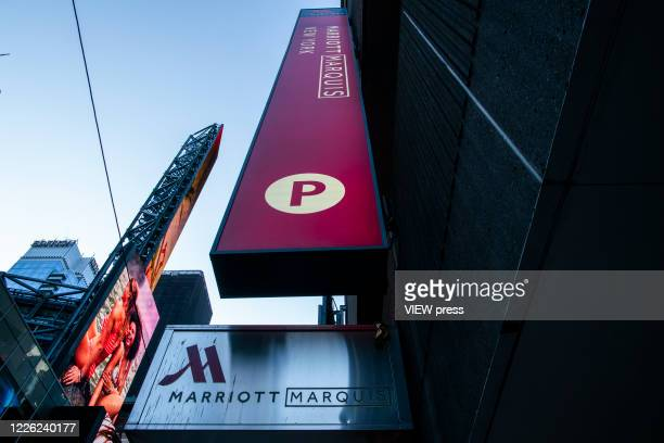 The International Hotel Marriott Marquis during the outbreak of the COVID19 pandemic on May 21 2020 in New York City United States have shuttered...
