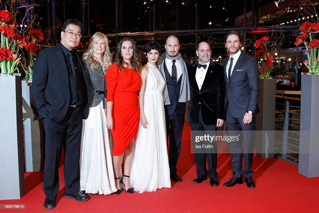 The International Jury with Bong Joon-ho, Martha De Laurentiis, Claudia Llosa, Audrey Tautou, Darren Aronofsky and Daniel Bruehl attend the Closing Ceremony of the 65th Berlinale International Film Festival on February 14, 2015 in Berlin, Germany.
