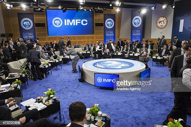 The International Monetary and Financial Committee meets during the 2015 IMF/World Bank Spring Meetings in Washington USA on April 18 2015