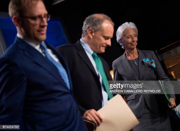 The International Monetary Fund managing director Christine Lagarde Director of the Western Hemisphere Alejandro Werner and Deputy Division Chief of...