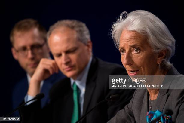 The International Monetary Fund managing director Christine Lagarde talks about the IMF's preliminary findings of its annual review of the US economy...