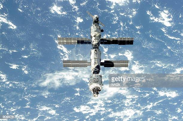 The International Space Station floats in orbit September 18 2000 following its undocking from the Space Shuttle Atlantis After accomplishing all...