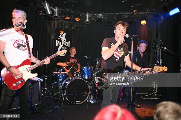 The International Swingers featuring Gary Twinn Clem Burke Glen Matlock and James Stevenson perform at The Viper Room in Los Angeles California on...