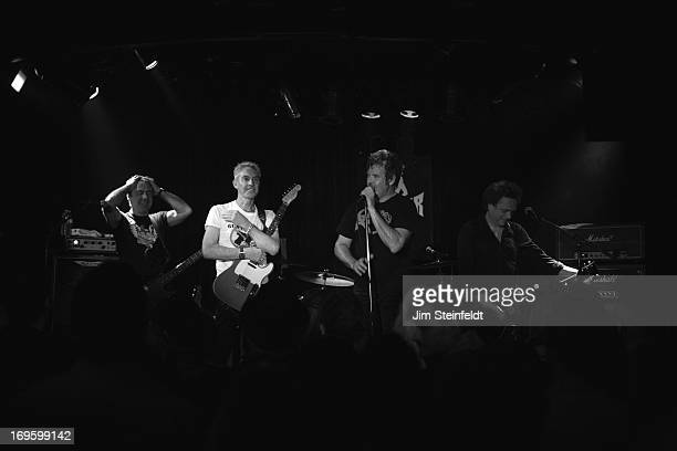 The International Swingers featuring Glen Matlock Gary Twinn Clem Burke and James Stevenson perform at The Viper Room in Los Angeles California on...