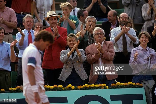 The International Tennis Tournament At Roland Garros 1991 Paris juin 1991 les Internationaux de tennis de Roland Garros 1991 Sur le cours le...
