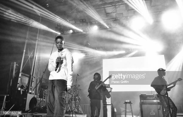The Internet perform onstage during 2018 AfroPunk Festival Atlanta Carnival of Consciousness at 787 Windsor on October 14 2018 in Atlanta Georgia