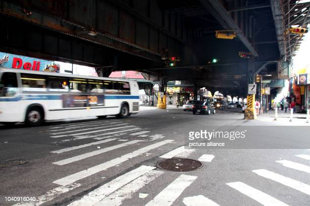 The intersection of Broadway and Myrtle Avenue in the borough of Brooklyn in New York, USA, 18 July 2016. The intersection is known throughout the...