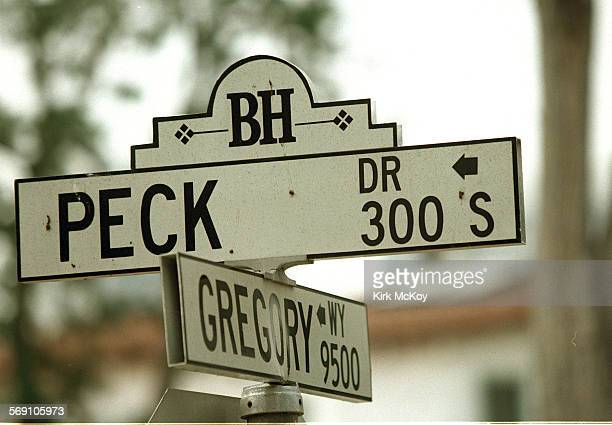 The intersection of Peck Drive and Gregory Way in Beverly Hills For Steve Harvey's column