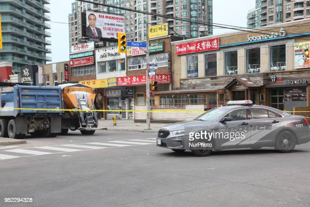 The intersection of Yonge and Finch remains blocked off the day after 10 people were killed and 15 people injured in a deadly van attack in Toronto...