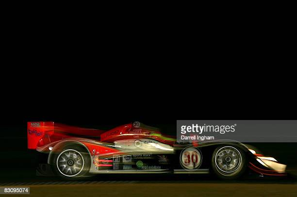 The Intersport Racing Lola B06 driven by John Faulkner during practice for the American Le Mans Series Petit Le Mans on October 2, 2008 at Road...