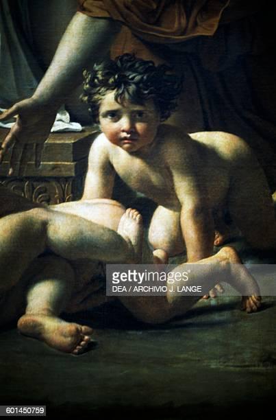 The Intervention of the Sabine Women by JacquesLouis David oil on canvas 385x522 cm France 18th century Detail Paris Musée Du Louvre