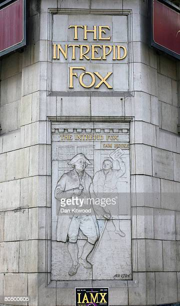 The Intrepid Fox pub in Soho on March 29 2008 in London England The well known rock music venue established in 1784 closed down in September 2006 and...