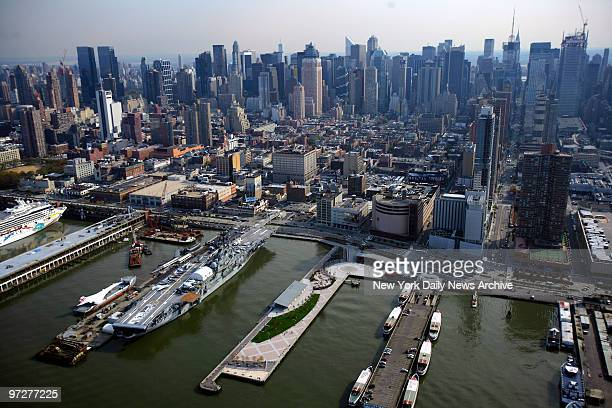 The Intrepid SeaAirSpace Museum sits docked on the West Side of Manhattan After 25 years of RR the famed aircraft carrier will be moved tomorrow that...