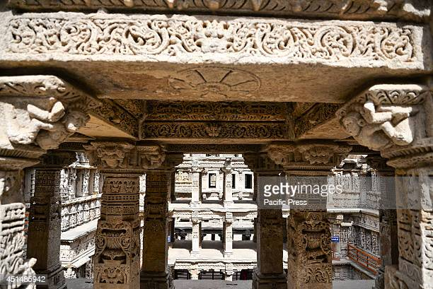 The intricate carvings of the structure of 'RanikiVav' Rani Ki Vav is one of the finest stepwells in India It is a stepwell in Gujarat built in the...