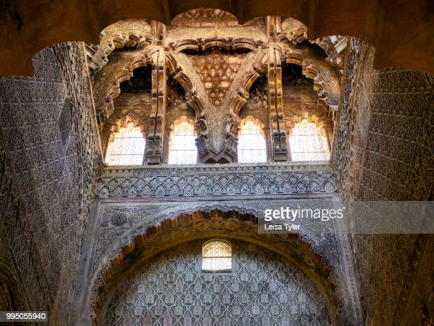 The intricate roof of a small prayer hall in the Cordoba Mezquita in Spain Built as a mosque in 785 then later converted into a cathedral the...