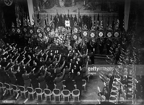 The introduction of state of the Prussian State Council in the auditorium of the University of Berlin After the speech of Hermann Göring the present...