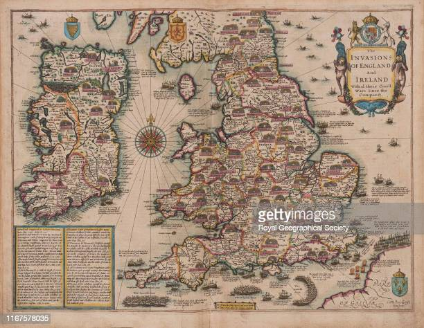 The invasions of England and Ireland with all their civil wars since the Conquest From A Prospect of the most Famous Parts of the World Together With...