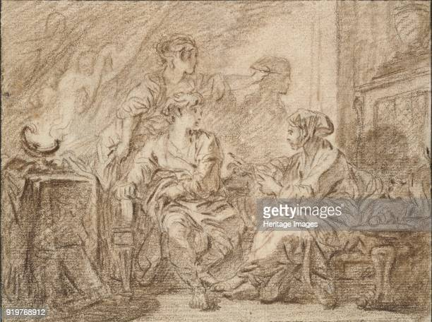 The Invention of Drawing mid 18th century Artist Francois Boucher