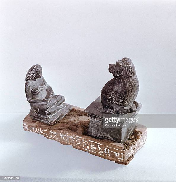 The invention of writing was attributed to Thoth god of learning and wisdom and patron of scribes seen here in his baboon aspect A scribe with an...