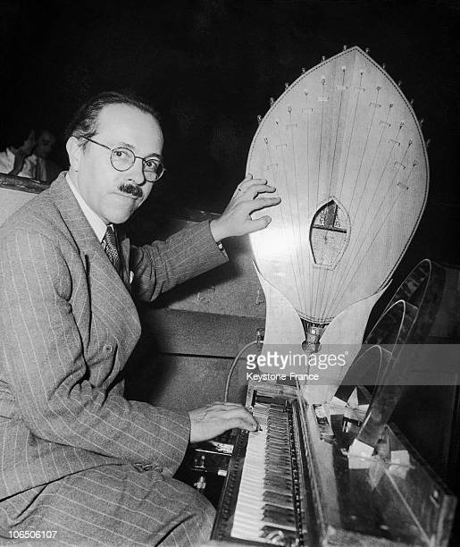 The Inventor Of Waves And Maternot Keyboard, Ancestors Of Synthesizer And Electronic Music. The Instrument Located To His Left Is A Palm Which Is...