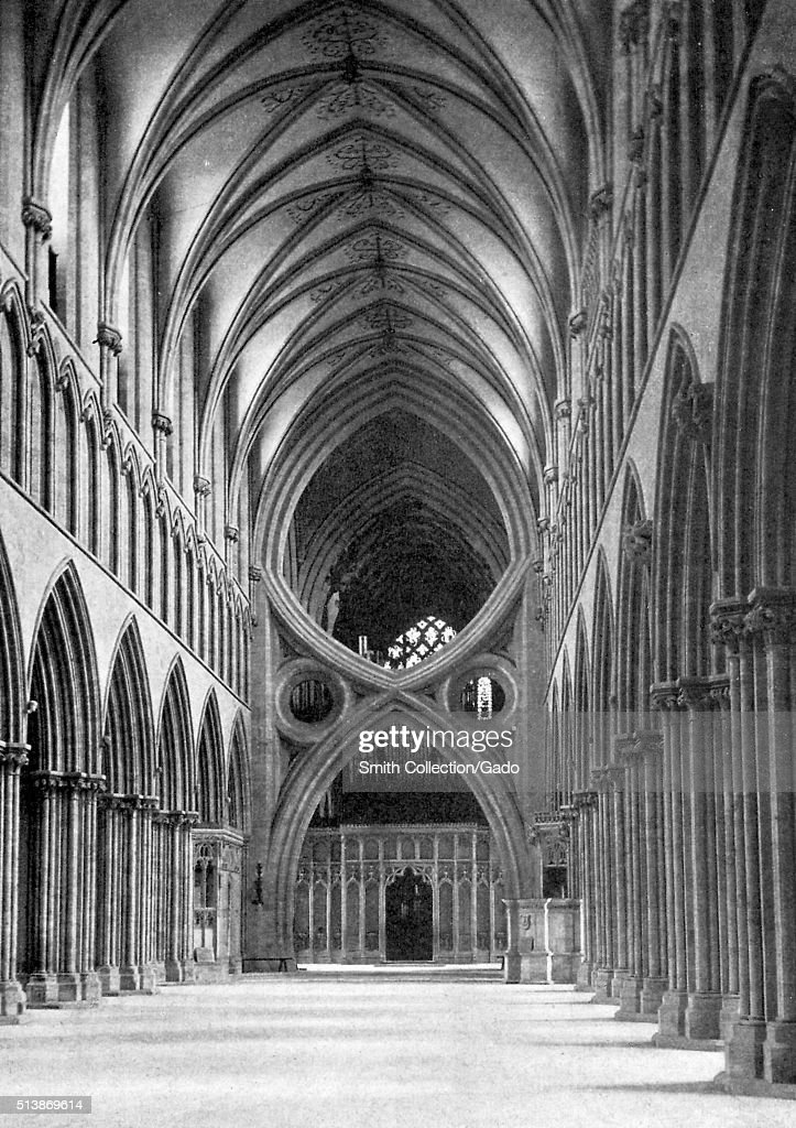 The Inverted Arches of the Wells Cathedral, built in the